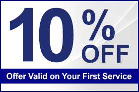 10% Off, Offer Valid on Your First Service